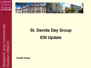 St. Davids Day Group ESI Update