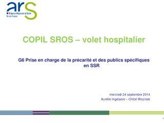 COPIL SROS � volet hospitalier