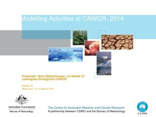 Modelling Activities at CAWCR, 2014