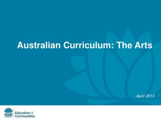 Australian Curriculum: The Arts
