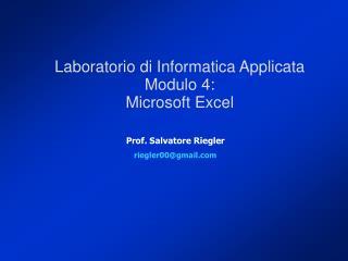 Prof. Salvatore Riegler riegler00@gmail