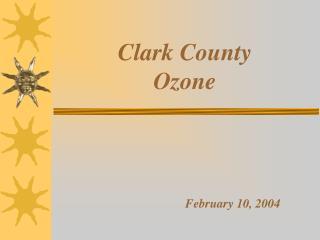 Clark County  Ozone  February 10, 2004