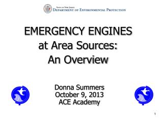 EMERGENCY ENGINES at Area Sources:                 An Overview