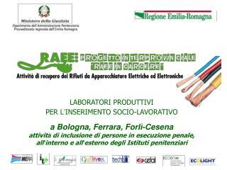 LABORATORI PRODUTTIVI  PER L � INSERIMENTO SOCIO-LAVORATIVO a Bologna, Ferrara, Forl�-Cesena