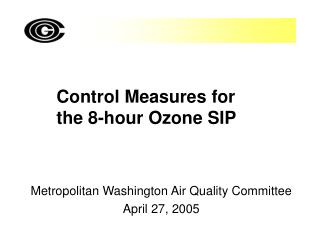 Control Measures for the 8-hour Ozone SIP