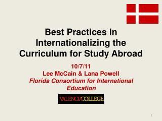 Best Practices in Internationalizing the Curriculum for Study Abroad