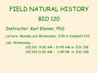 FIELD NATURAL HISTORY