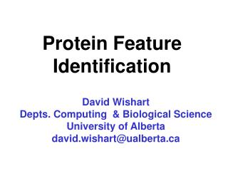 Protein Feature Identification
