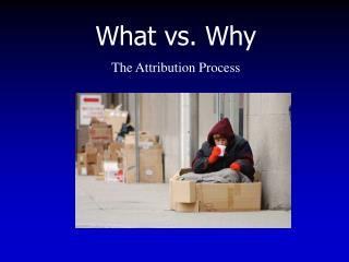 What vs. Why The Attribution Process
