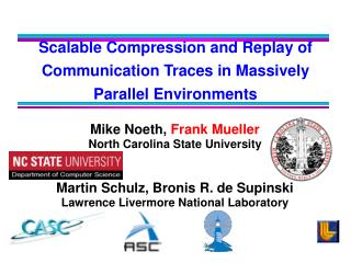 Scalable Compression and Replay of Communication Traces in Massively Parallel Environments