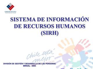 SISTEMA DE INFORMACIÓN DE RECURSOS HUMANOS (SIRH)