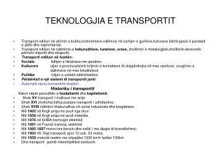TEKNOLOGJIA E TRANSPORTIT