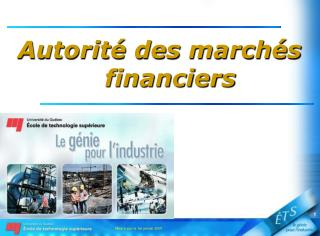 Autorit� des march�s financiers