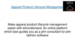 Apparel Product Lifecycle Management