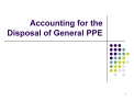 Accounting for the Disposal of General PPE
