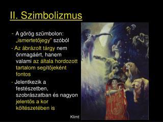 II. Szimbolizmus