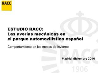 Madrid, diciembre 2010