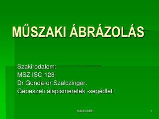 MŰSZAKI ÁBRÁZOLÁS