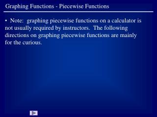 Graphing Functions - Piecewise Functions