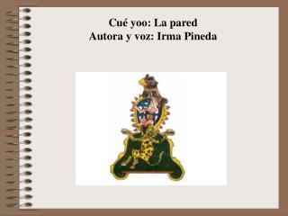 Cué yoo: La pared Autora y voz: Irma Pineda