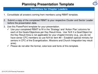 Planning Presentation Template