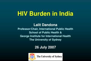 HIV Burden in India