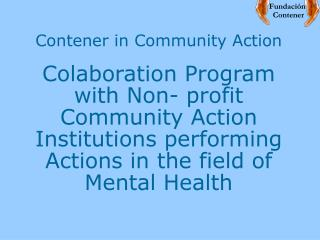 Contener in Community Action