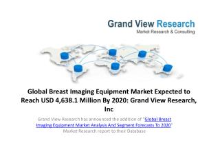 Global Breast Imaging Equipment Market Analysis by 2020