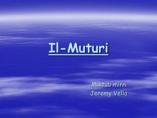 Il-Muturi