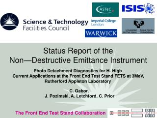 Status Report of the   Non�Destructive Emittance Instrument
