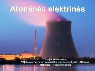 Atominės elektrinės