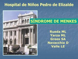 Hospital de Niños Pedro de Elizalde