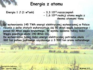 Energia z atomu
