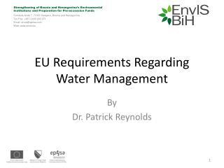 EU Requirements Regarding Water Management