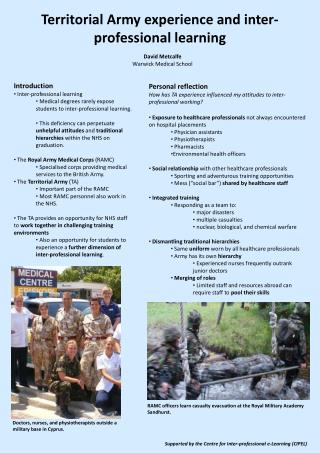 Territorial Army experience and inter-professional learning