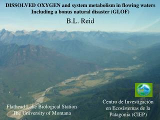 DISSOLVED OXYGEN and system metabolism in flowing waters Including a bonus natural disaster (GLOF)