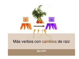 Más verbos con  cambios  de raíz