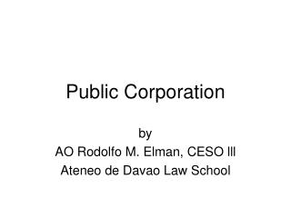 Public Corporation