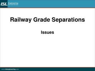 Railway Grade Separations