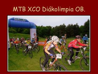 MTB XCO Diákolimpia OB.