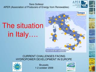 CURRENT CHALLENGES FACING  HYDROPOWER DEVELOPMENT IN EUROPE