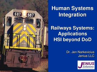 Railways Systems: Applications  HSI beyond DoD