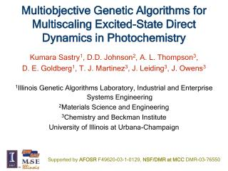 Multiobjective Genetic Algorithms for Multiscaling Excited-State Direct Dynamics in Photochemistry