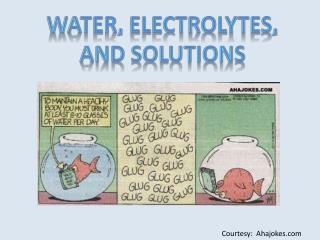 Water, Electrolytes, and Solutions