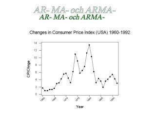 AR- MA- och ARMA-