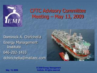 CFTC Advisory Committee Meeting – May 13, 2009