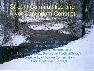 Stream Communities and River Continuum Concept
