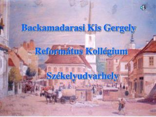 Backamadarasi Kis Gergely