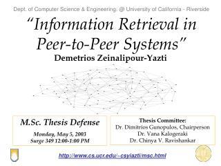 """""""Information Retrieval in Peer-to-Peer Systems"""""""