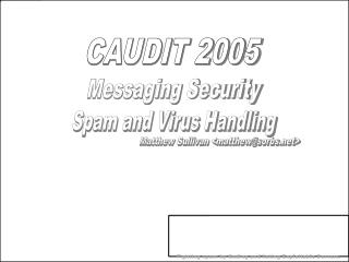 Spam and Virus Handling